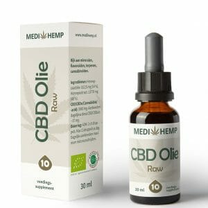 CBD olie RAW 10% 30 ml MediHemp