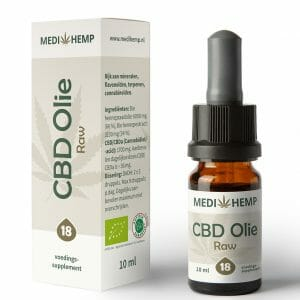 CBD olie RAW 18% 10 ml MediHemp