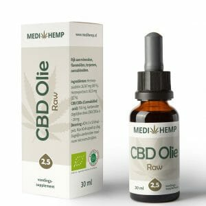 CBD olie RAW 2,5% 30 ml MediHemp