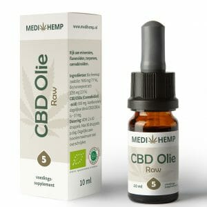 CBD olie RAW 5% 10 ml MediHemp