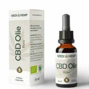 CBD olie RAW 5% 30 ml MediHemp